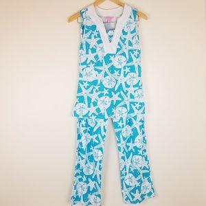 LILLY PULITZER Starfish & Sand Dollar Pajama Set